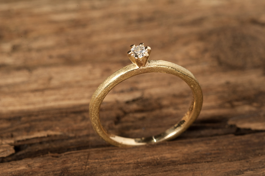 Verlobungsring, Goldring, Brillantring